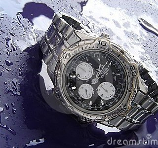 Cleaning a water-resistant watch: Use a soft damp cloth to clean the head of the watch and then wipe off with a dry soft cloth.Metal bracelets can be cleaned by using mild soapy water and a soft toothbrush.